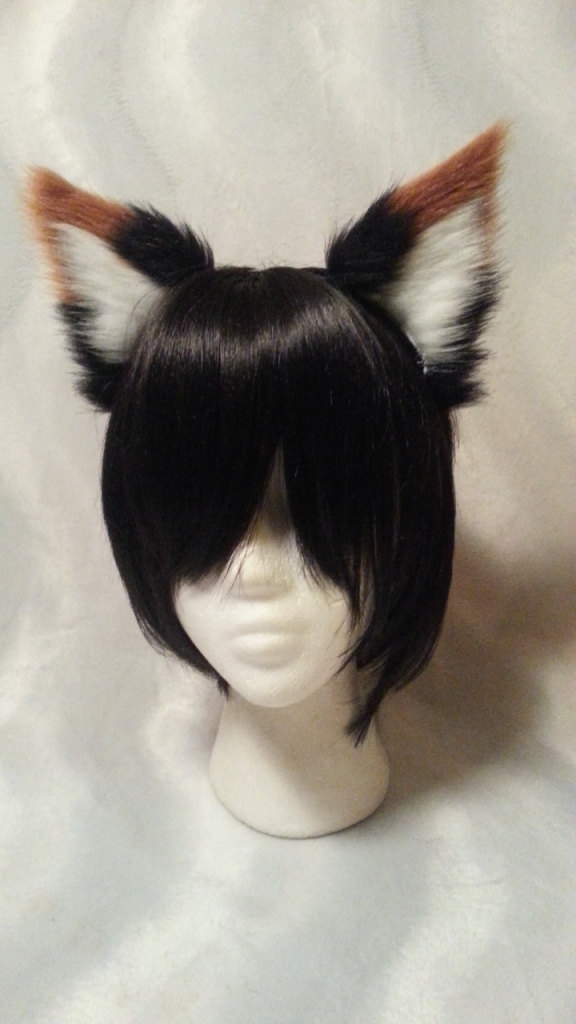White Dog Ears And Tail Costume