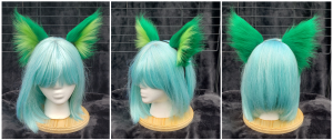 Green and Lime solid ears 2
