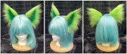 Lime and Green solid ears sm